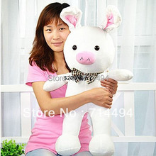 Free shipping 50cm special cute soft anime pig rabbit cuddly sleep plush animal doll hold pillow stuffed toy birthday gift(China (Mainland))