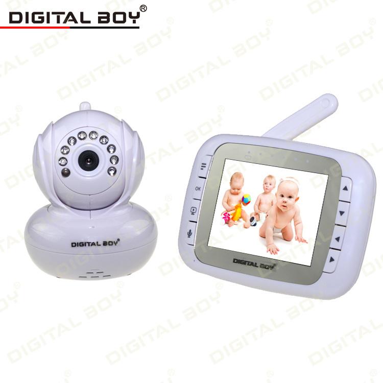 high quality baby monitors 2 4g 3 5 inch night vision pan tilt ptz zoom video. Black Bedroom Furniture Sets. Home Design Ideas