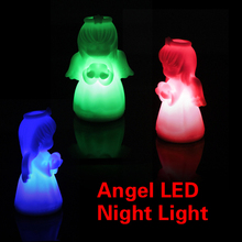 Home Decor Crafts Room Decoration Colorful Little Angel LED Night Lights Light Fit Christmas Gift Free Shipping MTY3(China (Mainland))