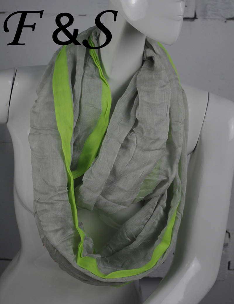160x85cm contract color designal foulard women grey and green voile ring scarf womens scarfs fashionable - Foulard Color