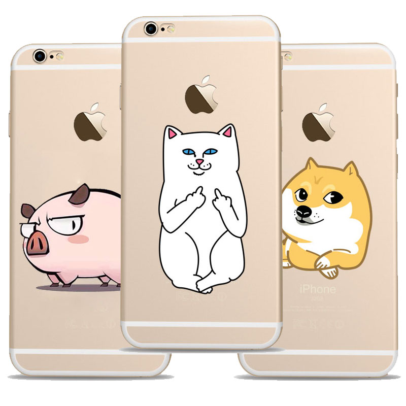 Cartoon Animal pattern lazy Dog fat Pig And cat font b Case b font cover font