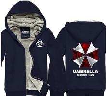 HOt Free Shipping New top brand designer fashion ziper hoodies Resident Evil Theme fleece umbrella hoodies Sweatshirt(China (Mainland))