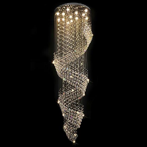 Free Shipping DHL Spiral Design Lustre LED K9 Crystal ...
