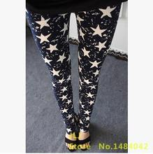 New Rose Flower Printed Leggings Fashion Sexy Women Lady Slim High Elastic Cotton Pants Multiple colors styles trousers in stock(China (Mainland))