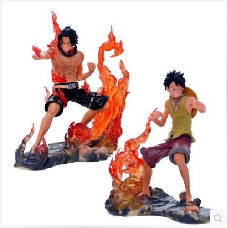 20sets/lot Free Shipping Japanese Anime Figures One Piece DX Brotherhood figures Luffy+Ace Figures set of 2pcs PVC 14CM OPFG144(China (Mainland))