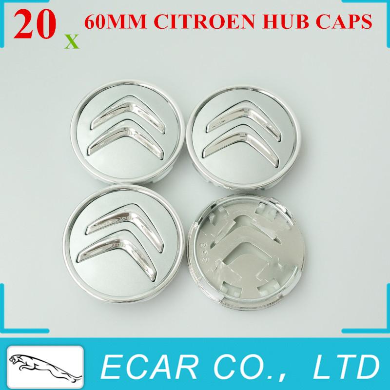 20Pcs/lot 60mm Citroen Wheel Center Caps Wheel Center Emblem Badge Fits C2 C3 C4 C5 C6 C-Quatre Hub Caps Emblems Badge Brand New(China (Mainland))