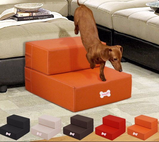 Free Shipping Waterproof Cortex Pet Furniture Leather Pet Dog Stairs Puppy  Anti Slip Pet Stairs