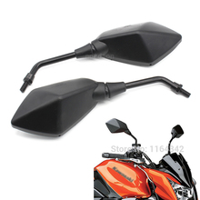 Pair Black Custom Motorcycle Mirror Racing Rearview Mirrors For Kawasaki Honda Suzuki Yamaha BMW Ducati Side Mirror