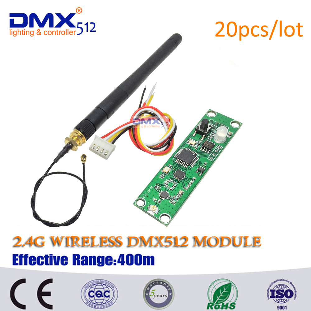 DHL Free Shipping 2.4G 126 channels Wireless DMX DMX512 Dfi DJ system Receiver or Transmitter Controller(China (Mainland))