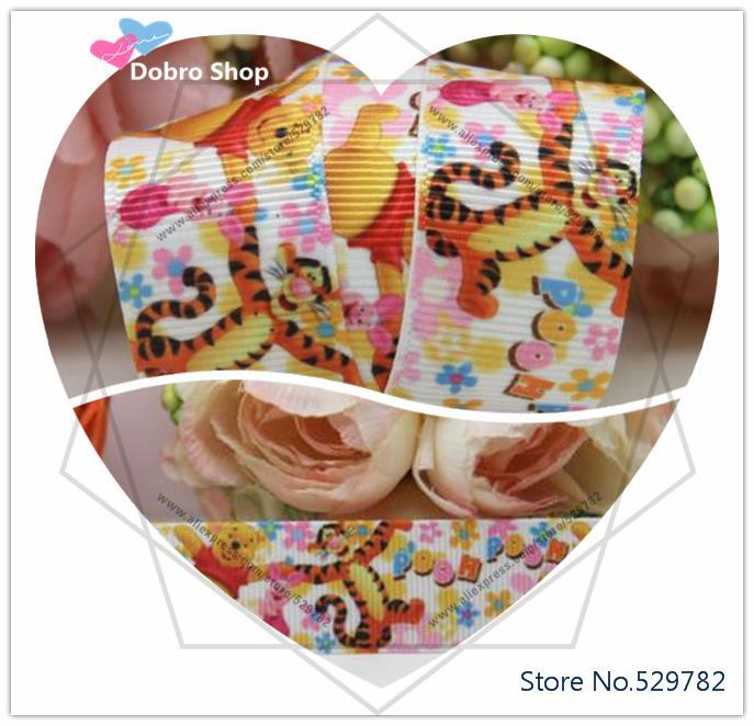 "10 yards/lot New 7/8""22mm Cartoon Animals Plaing Tiger Bears Printed Grosgrain Ribbon for DIY Crafts/Hair Bow Gift Packaging(China (Mainland))"
