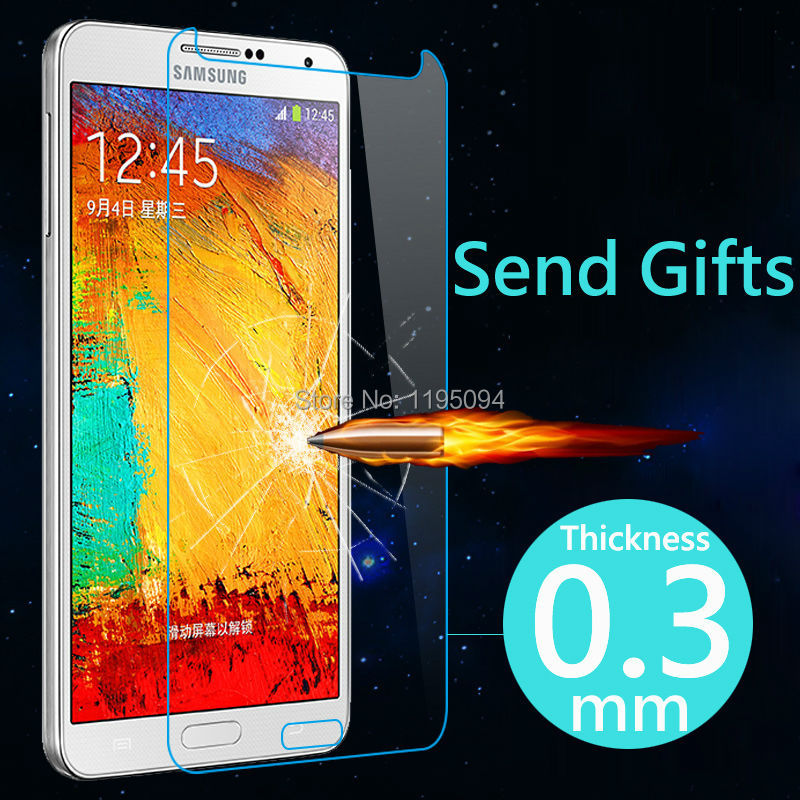 Ultrathin Premium Tempered Glass Screen Protector Samsung Galaxy Note 3 N9000 III Toughened Protective Film Send Great Gift - Shenzhen RongBin Trading Co., Ltd store