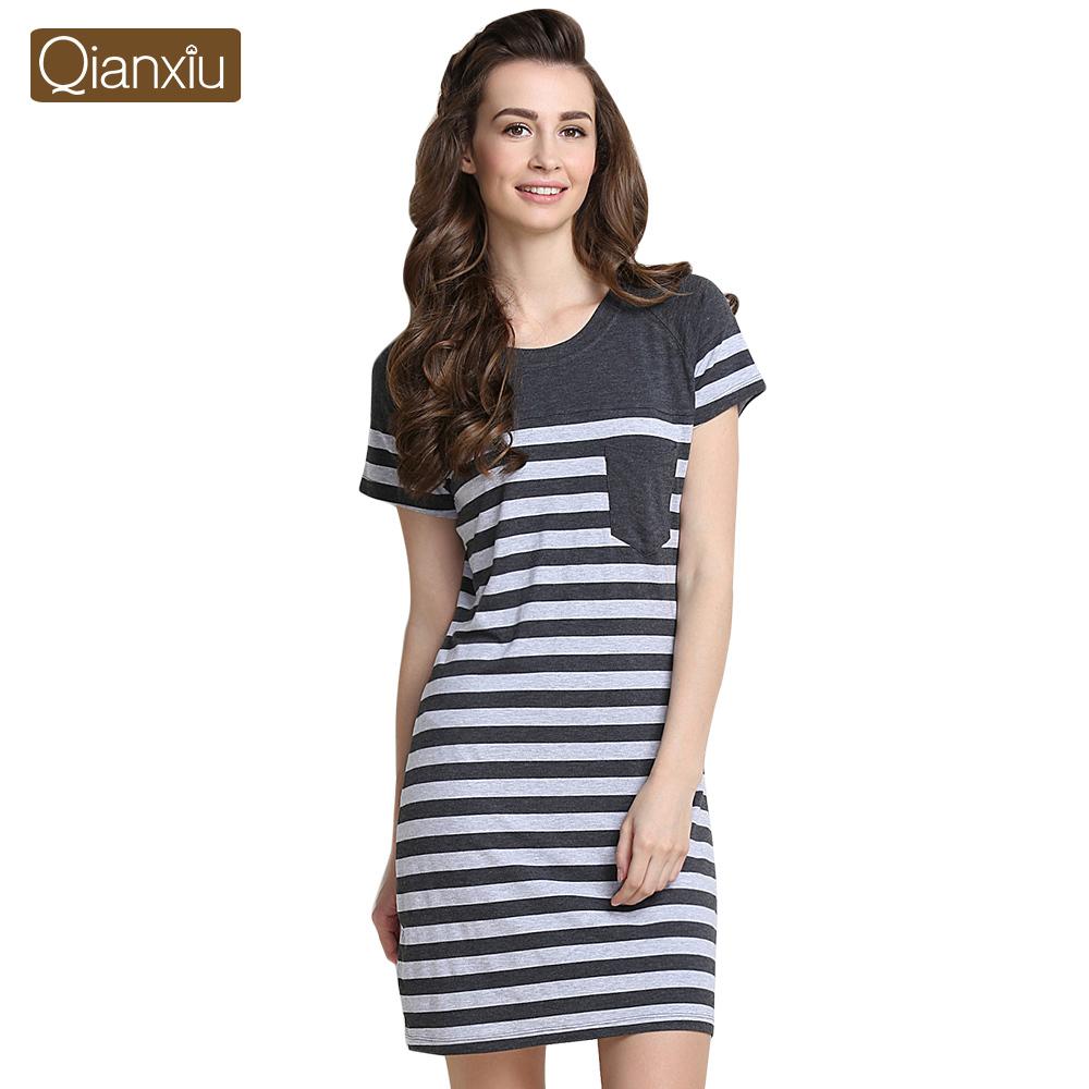 2016 Pijamas Mujer Panda Onesie Qianxiu Nightskirt Summer Modal Casual Nightgown Short-sleeve Knee-length Sleepshirts Women - Official Flagship Store store