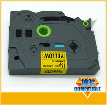 10PK Brother OEM TZ-631 Compatible Black on Yellow  Label Tape 12mm 8M TZe631
