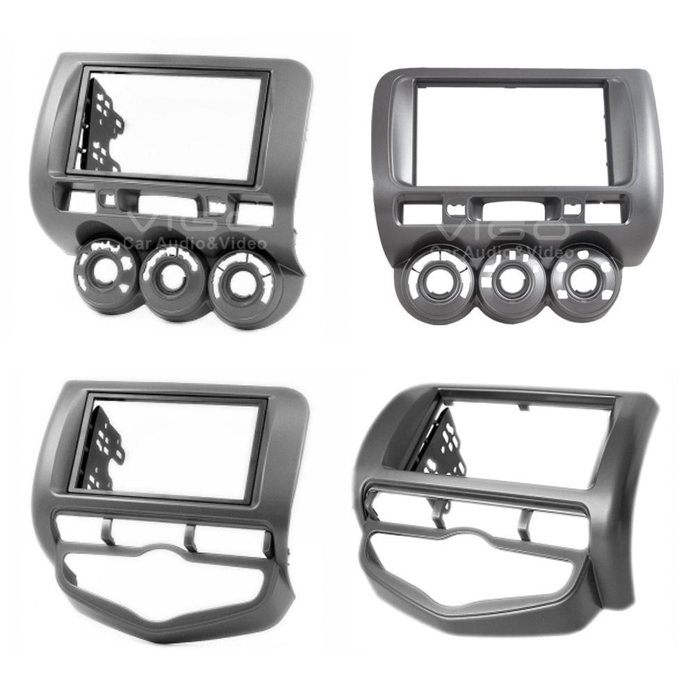 Car Audio Facia HONDA Fit Jazz Stereo Dash Kit Fitting Installation Trim Fascia Face Plate Surround Panel Frame Doulble DIN - Vigo Auto Electronics Ltd. store