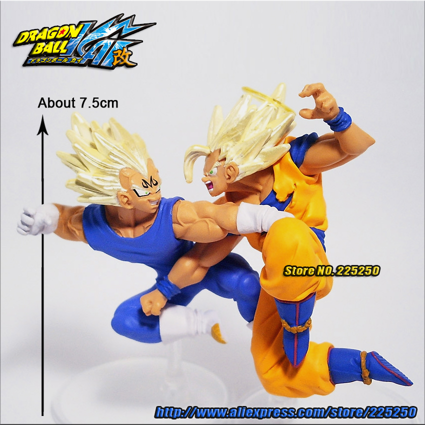 Japanese Anime DRAGONBALL Dragon Ball Z/Kai Genuine Original BANDAI Gashapon PVC Toys Action Figures HG 16 Son Goku & Vegeta - DRAGON BALL Store store