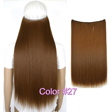 """Верхние термостойкие B5 синтетические волосы 20 """"50 см 50 г эластичность невидимая 27"""