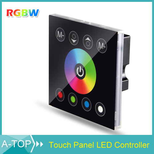 1Pcs DC 12V Wireless LED Controller RF Touch Panel LED Dimmer RGBW Remote Controller For SMD 5050 3528 3014 RGBW Strip Light(China (Mainland))