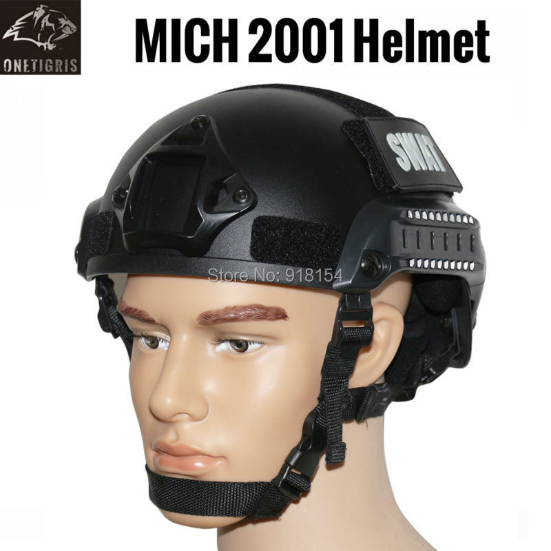 OneTigris Tactical Airsoft Paintball Helmet MICH 2001 Action Version Helmet with NVG Mount and Side Rails Military Combat Helmet(China (Mainland))