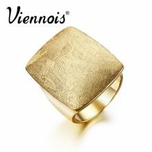 Новые Viennois золото или посеребренные GB геометрические кольца для женщин драгоценности площади свадьбы кольца(China (Mainland))