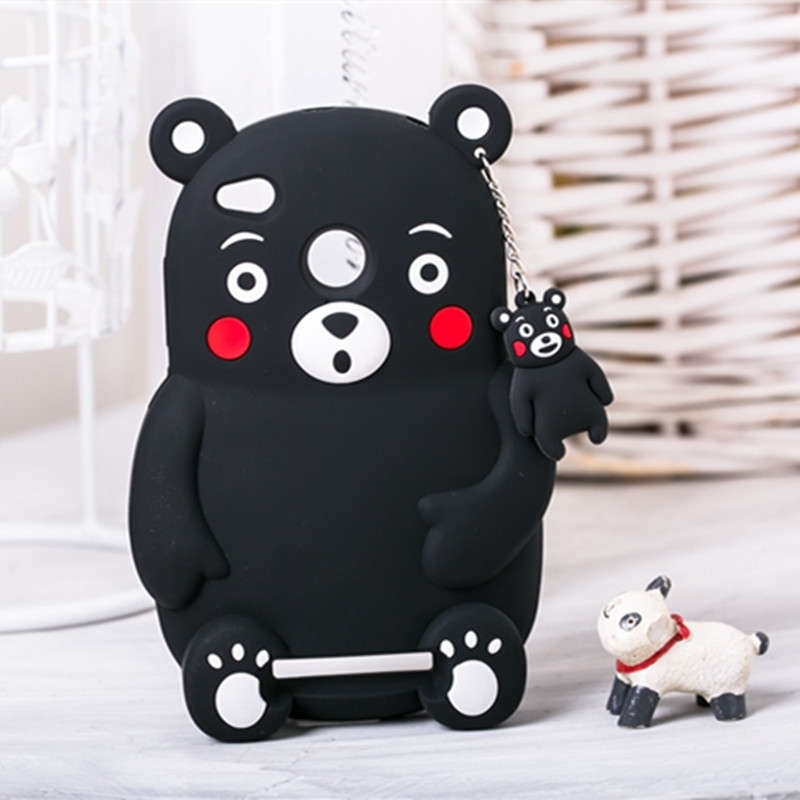 "Fashion Cartoon Kumamon Soft Silicone Case for Xiaomi Redmi 3 Hongmi 3 5.0"" Lovely Bear Phone Cover Shockproof Rubber Shell(China (Mainland))"