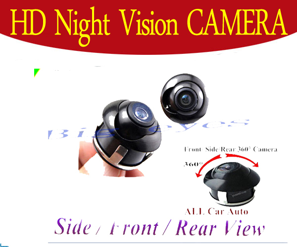 360 CCD Car Front / Side / Rear View Reverse Camera Universal For all Model(China (Mainland))