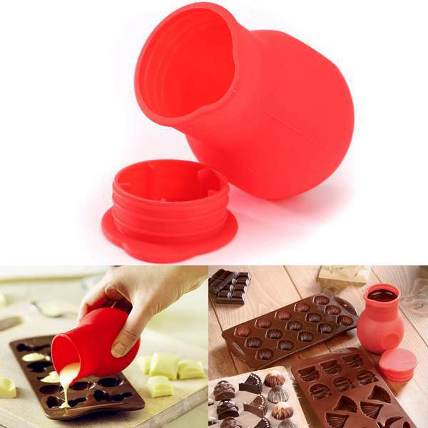 Mini Silicone Chocolate Melting Pot Butter Milk Mixed Mould Heat Microwave Home Convenient Kitchen Tool(China (Mainland))