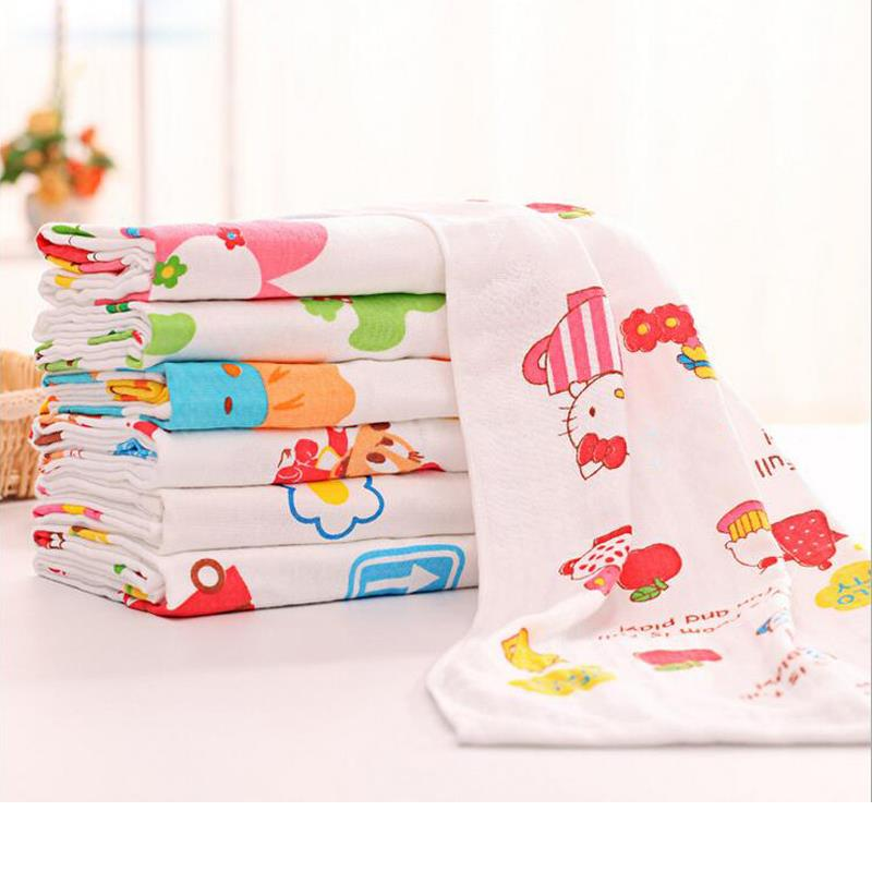 Cartoon Animal Soft Cotton Gauze New Born Baby Child Kids Beach Bathroom Bath Shower Absorbent Dry Towel Quilt Blanket 60*120cm(China (Mainland))