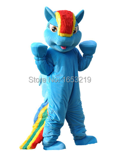 Rainbow Dash Mascot Costume Pegasus Pony Adult Little adult size Halloween Fancy Dress - buycostumes store