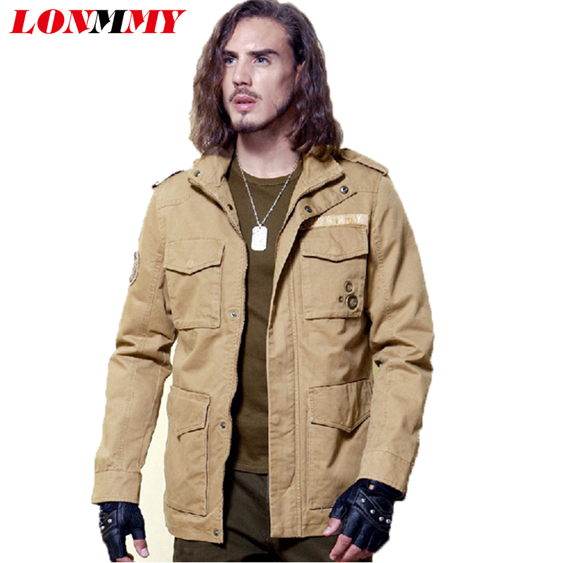 LONMMY M-3XL Casual mens jackets and coats army coats men clothes Spring jacket men militar Overalls Military jacket New(China (Mainland))