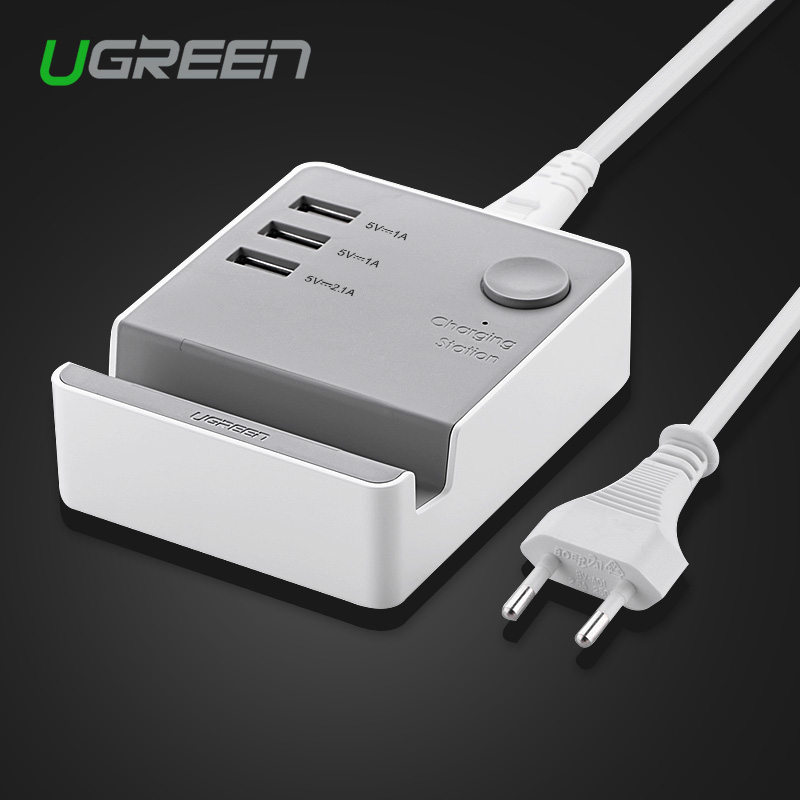 Ugreen 5V4A 3 Ports USB Charger Portable Travel Desktop Charger Adapter EU US UK Plug Charger for iPhone 5s 6 LG Phone Charger(China (Mainland))