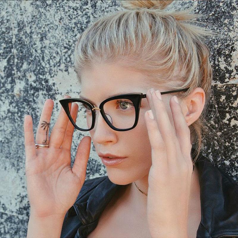 New Fashion Cat Eye Eyeglasses Women Brand Designer Clear Lens Glasses Women UV400 MA480(China (Mainland))
