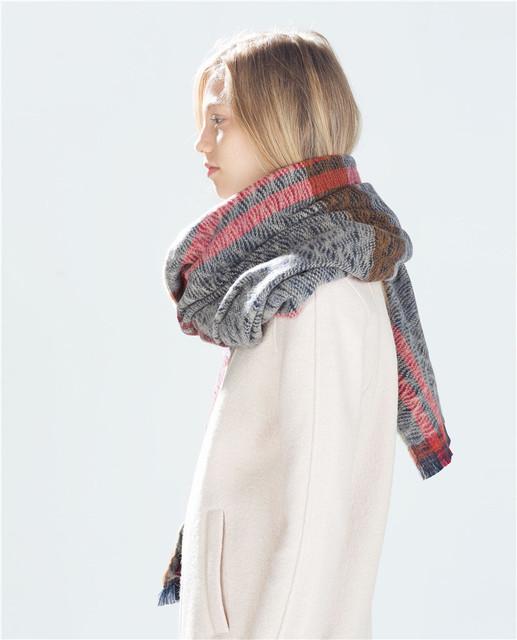 Платье-а женщины шарф зимы 2016 теплый плед шарф новый дизайнер мужской акриловые основная шали женские платки большой размер 200 * 85 см