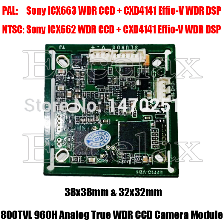 DIY 800TVL Sony ICX663 WDR CCD + Effio-V CXD4141 DSP CCTV Camera Module Board PCB OSD HLC Motion Detection Wide Dynamic Range(China (Mainland))