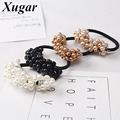1 Pc Boutique Pearls Elastic Hair Band For Women Girls Hair Rope Trendy Ponytail Holder Hair