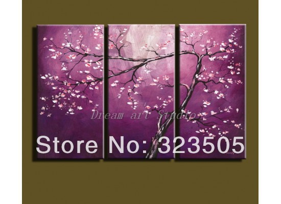 wall canvas art Cherry blossom from picture free shipping to UK Frence Greece Russia US(China (Mainland))