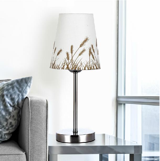 Lmpara de mesa decorativa estilo rstico vendimia breve pantalla