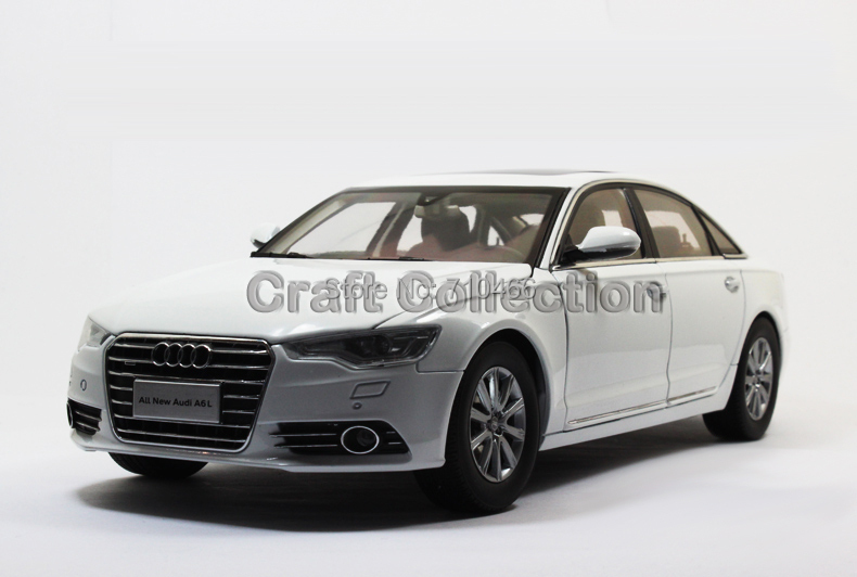 White Car Model New Audi A6L A6 2012 Diecast Model Car Luxury Vehicle Festival Gifts(China (Mainland))