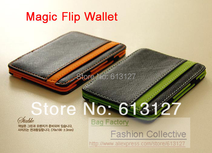 60% discount FREE SHIPPING MAGIC MONEY FLIP FUNNY WALLET PURSE MONEYBAG short design Synthetic Imitation Leather men's Pouch(China (Mainland))