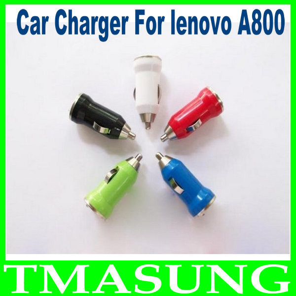 2014 free shipping New Color USB Car Charger For lenovo A800 dual core phone 2pcs/lot(China (Mainland))