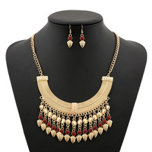 2016 New Fashion Bohemian Tassel Power Necklace Long Colar Choker Necklace Vintage Gypsy Ethnic Maxi Women necklace Fine Jewelry(China (Mainland))