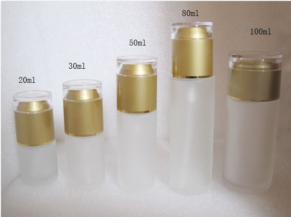 30ml frosted glass bottle with gold press pump, lotion bottle(China (Mainland))
