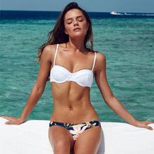 2016 New Sexy Women Bikini Set Printing Froal  Swimwear Push-up Bra Swimsuit Beach Black Pink19