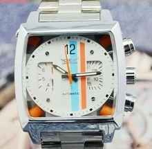 Jargar reloj mecánico reloj personalidad de moda para hombre mens cuadrados comerciales miran j203