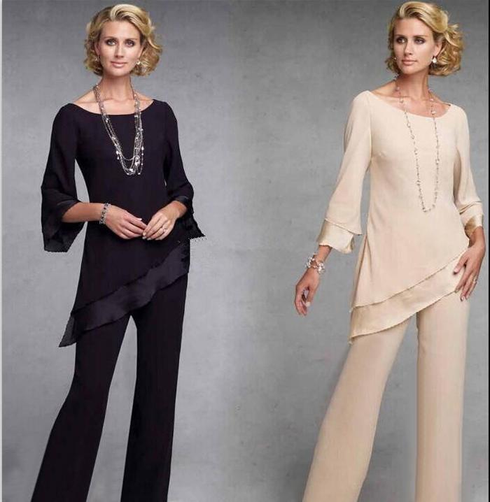 Women's plus size evening wear pantsuits