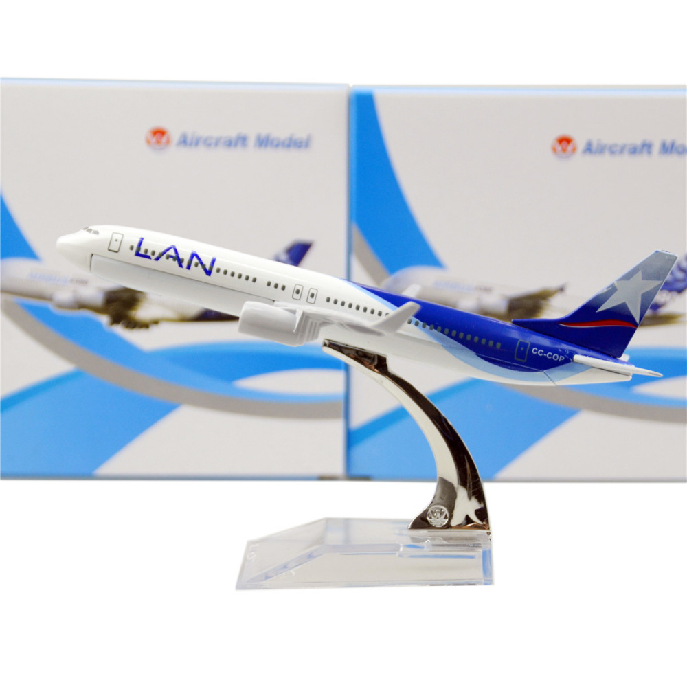 LAN Airlines Boeing 737-800 16cm model airplane kits child Birthday gift plane models toys Christmas gift(China (Mainland))