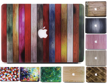 Wood Marble Hard Case For apple Macbook Air 11 12 13 Pro 13 15 Retina Bag Matte Protective PVC Vintage Texture Cover Shell Black