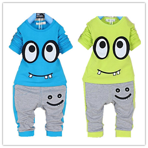 2015 Casual Boys Clothing Spring Autumn Kids Clothes Cotton Boys Clothing Suit Set long sleeve+pants Cartoon Baby Boy Clothes(China (Mainland))