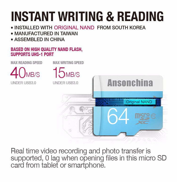 NEW Version Blue Micro SD Card Class 10 TF Card 16GB 4GB 8GB 32GB 64GB memory card usb micosd card for moblie phone MP3(China (Mainland))