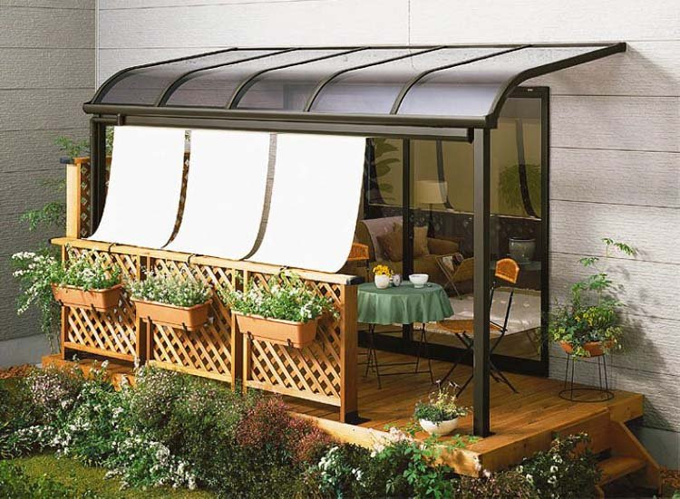 Alumni roof terrace balcony canopies manufacturers for Balcony canopy