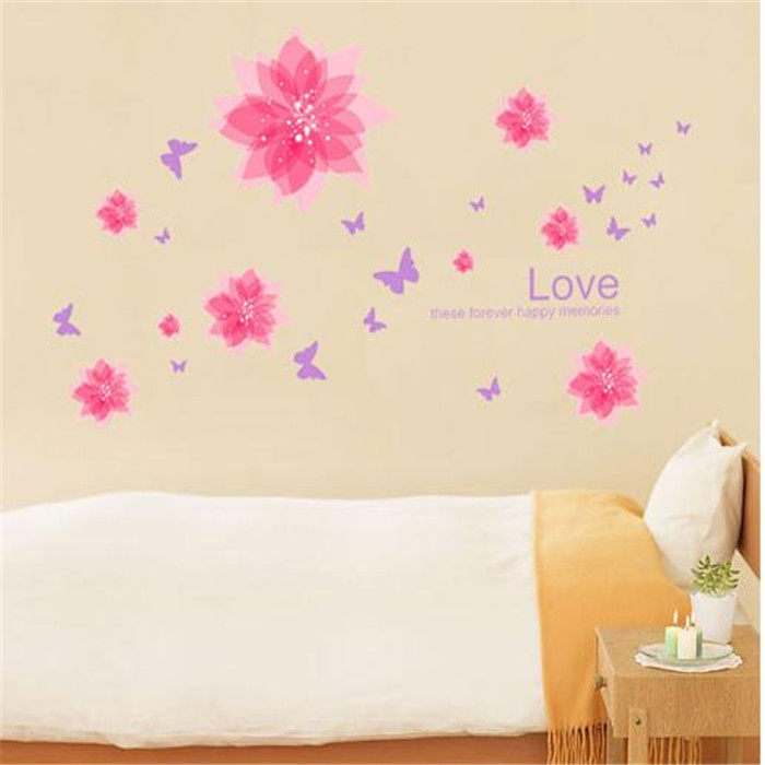 Buy Wall Stickers Diy Love Large Pink